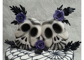 Skull and Cobweb Wedding Cake