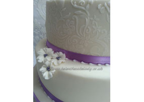 Wedding Cake with Grooms Cake