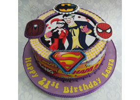 Superhero 21st Birthday Cake