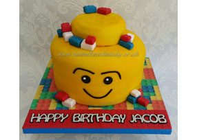 Lego Head Birthday Cake
