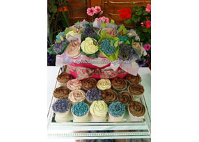 Cupcake Trough Bouquet