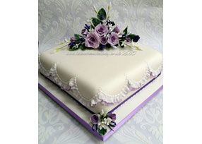 Single-tier Wedding Cake