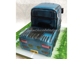 Scania Lorry Birthday Cake