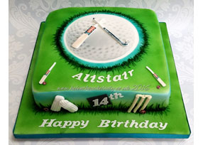 Cricket and Hockey Themed Cake