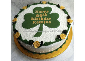 Shamrock Birthday Cake