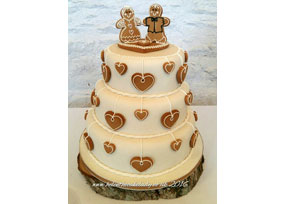 Gingerbread Wedding Cake