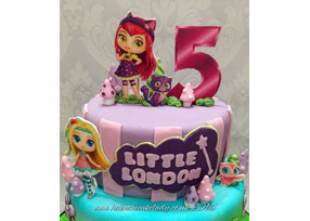 Little Charmers 2d print Cake