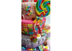 3-tier Sweet Candy Cake