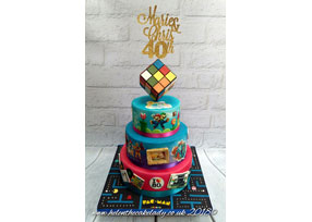40th 80s Birthday Cake