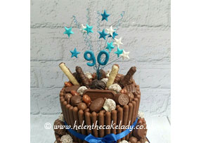 Chocolate Lovers 2-tier Cake