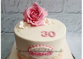 Pink Rose and Lace Cake