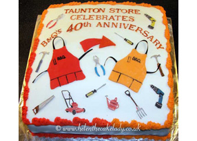 B&Q's 40th Birthday Cake