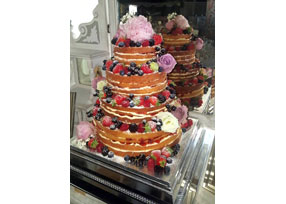 4-tier Naked Wedding Cake