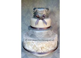 Silver and White 4-tier