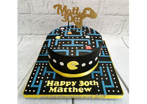 Pacman 30th Birthday Cake
