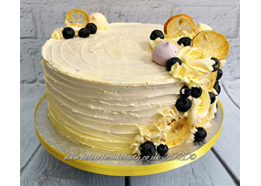 Lemon and Blueberry Rustic Cak