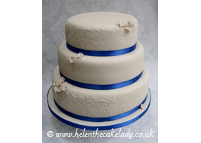 Royal Blue and Ivory