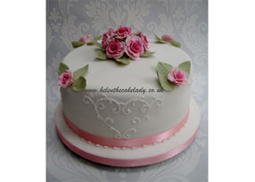 traditional 3 tier pink pastel