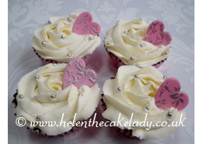 Pink and Cream Cupcakes