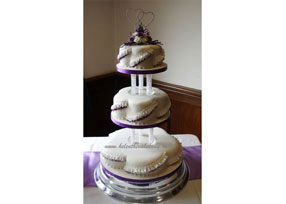 purple petal 3 tier