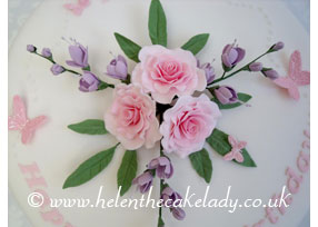 Round Pink and Lilac Roses