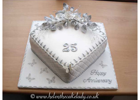 Silver Wedding Cakes Husband And Wife Models On